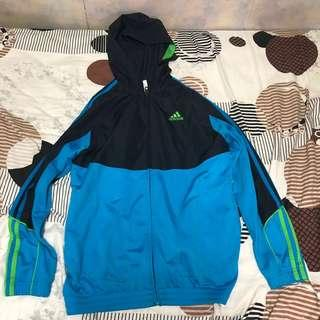 藍黑色Adidas Jacket
