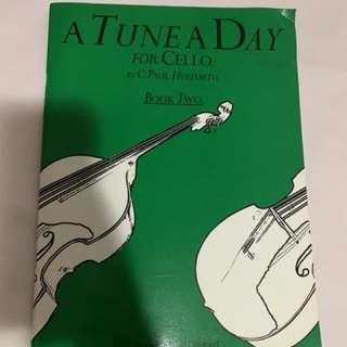 Book Cello  A Tune A day