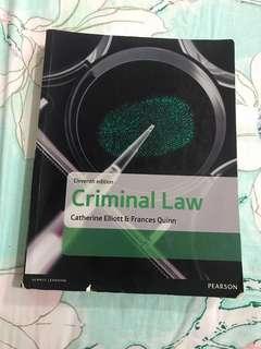 Catherine Elliot Criminal law 11th edition