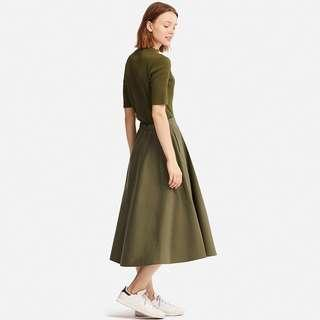 Uniqlo Cotton Pockets Long Skirt