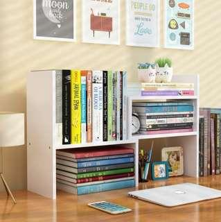 New Desk Organiser - Extendable Shelf (White)