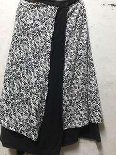 Skirt/pario button
