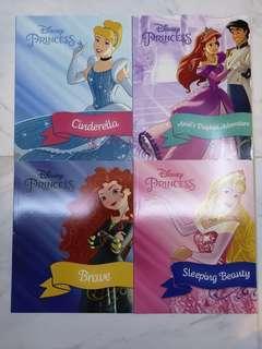 迪士尼公主圖書四本,接近全新。
