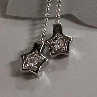 星星鑽石型耳環