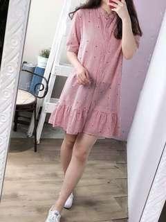 🚚 免運~日系品牌彩色點點學院風洋裝(只試穿一次)#半價衣服市集