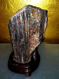 4.5kg Black Tourmaline crystal  电气石