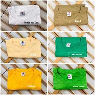 🚚 [PO] Coloured Plain Tshirt