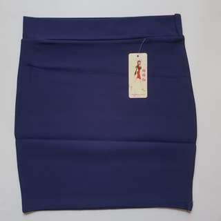 Midnight Blue Bandage Skirt