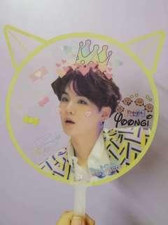 BTS SUGA TRANSPARENT FAN