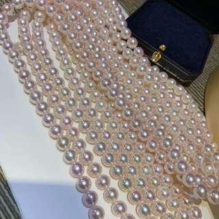 8-8.5mm日本🇯🇵極光akoya珍珠項鏈,光澤好但是有一點點不圓整体,表皮乾淨!