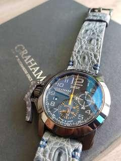 "*PRICE REDUCED* Graham ""Black Forest"" Oversize Chronofighter"