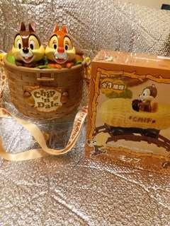 Disney Chip and Dale 爆谷桶 及 chip 電動車 車軌