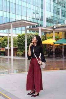 Long Red Culottes