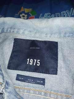 zara man jacket denim blue wash 1975