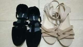 Wedges & flat shoes