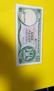 $1 pound sterling