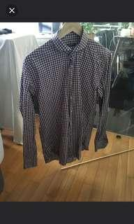 Suitsupply Slim Fit Checkered Shirt - Size 15.5/39