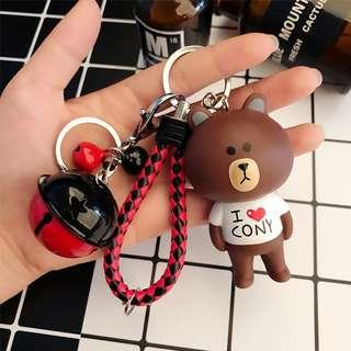 Line Friends Brown Cony Key Chain Key Holder