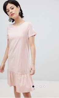 Asos vera Moda organic cotton drop hem dress
