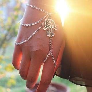 Hamsa Hand Chain Bracelet