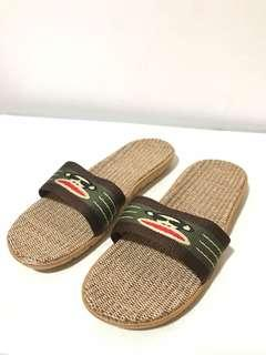 🚚 Paul Frank Bamboo Slippers with Anti Slip Sole / Base