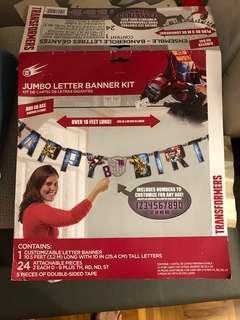 Transformer Birthday Banner