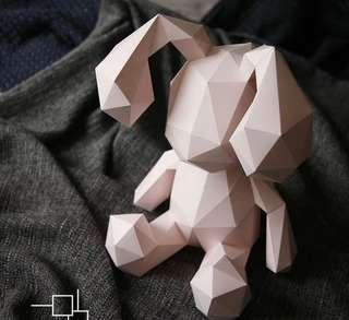 3D Pop Art DIY Rabbit Bunny - 33CM