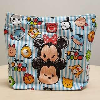 Disney Tsum Tsum Blue Canvas Lunch Tote Bag with Handle and Zip