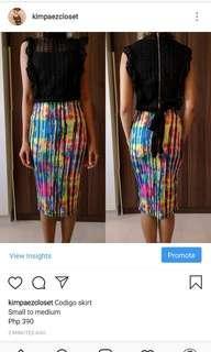 Codigo rainbow skirt