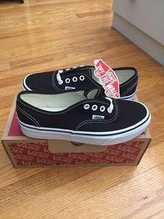 BNIB Black Vans