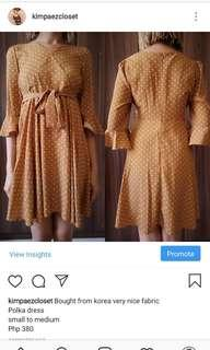 Korean polka dress
