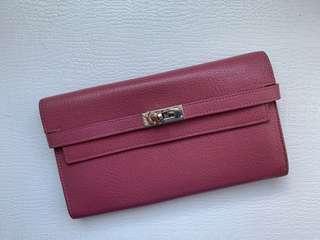 Hermès Kelly wallet in rose de bois