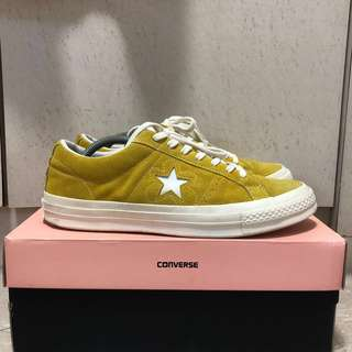 2336a61fe4c39d Golf Wang x Converse One Star in Yellow Suede