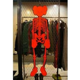 Super Rare KAWS LIFESIZE Posable Skeleton Cardboard Mobile Display 170cm Made in Japan 2006 with Original Envelope and Authenticity Hologram