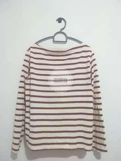 UNIQLO STRIPED BOAT NECK LONG SLEEVE