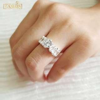 Latest design😍😍😍 925 Silver Ring ALASKA cincin tunang cincin nikah