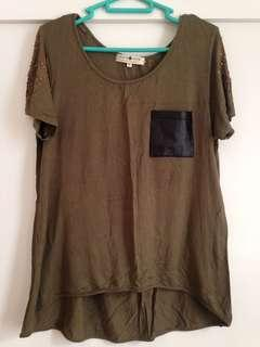 Cache Cache Army Green Top