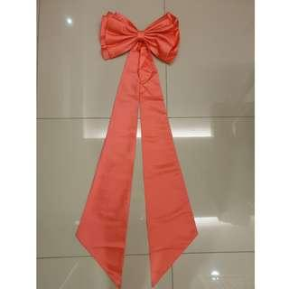 Big ribbon as accessory for wedding gown or any other purpose