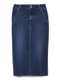 🚚 snidel 日本製造牛仔窄中長裙後開叉