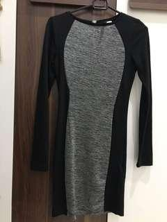 H&M Black/Grey Dress