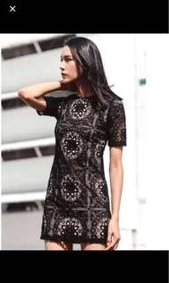 Fashmob Oslo Crochet dress in black