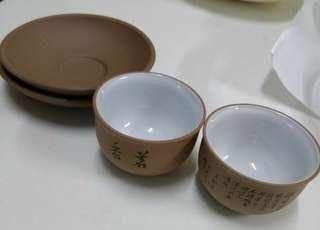 Chinese tea cups clay mix