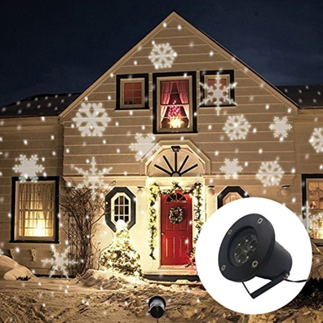 Christmas Projector Lights.2738 Gimify Outdoor Led Christmas Projector Lights White Snowflake Landscape Garden Lighting Waterproof Lawn Decoration Party Light