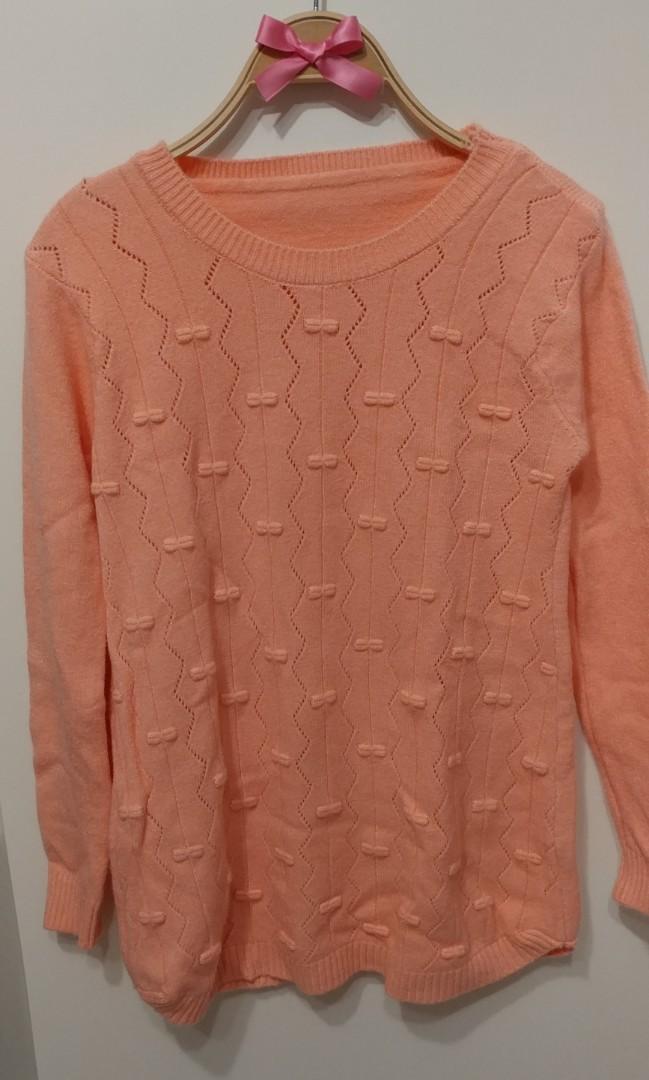 法式甜美  蝴蝶結 超柔軟 毛衣 保暖上衣 打底 甜美 氣質款