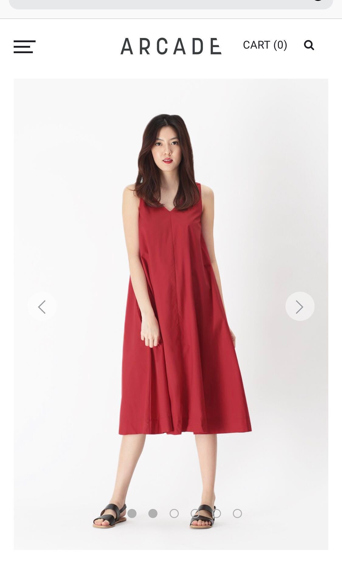 e271774fd2f79d AFA WILLOW V-NECK FLARE DRESS IN AURORA RED, Women's Fashion ...