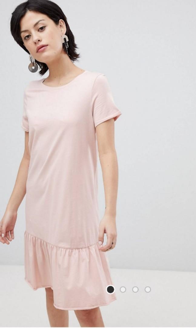 74bfd4b01 Asos vera Moda organic cotton drop hem dress, Women's Fashion ...
