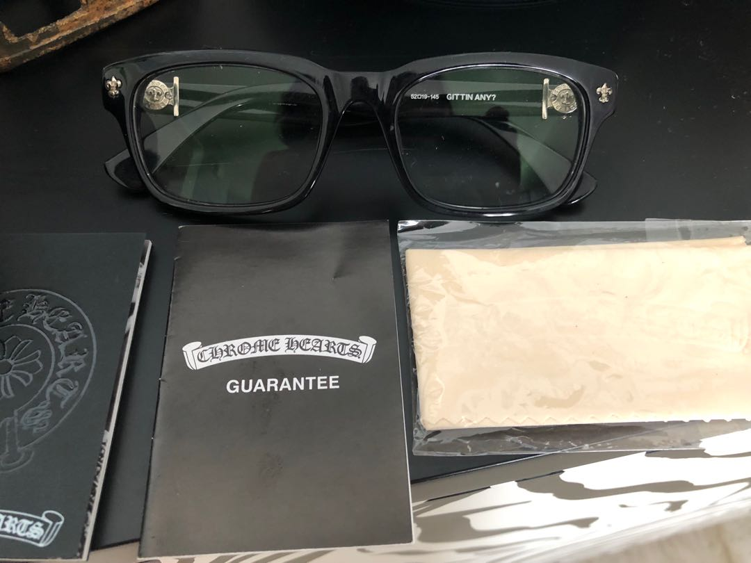 a7f6e190094 Auth Chrome Hearts Glasses BNWT