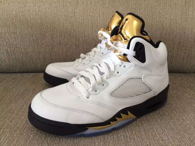 Authentic Air Jordan 5 Olympic GOLD COIN 551af4ca2