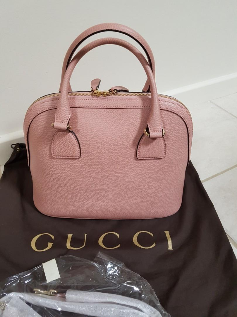 Authentic Gucci pink leather bag NEW