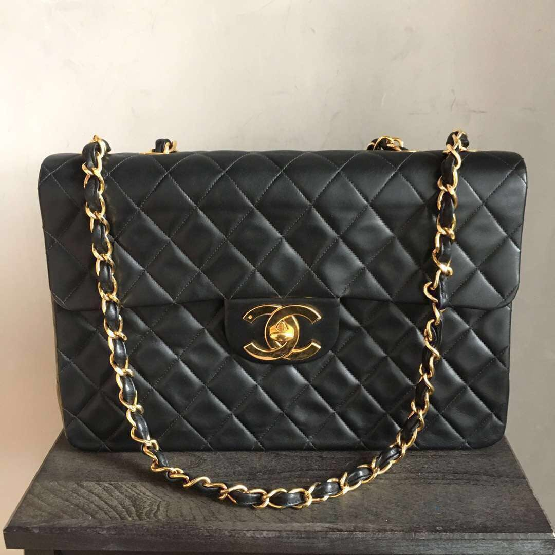 21483baed2c48f Authentic Vintage Chanel Classic Maxi Flap Bag (Victoria Beckham ...